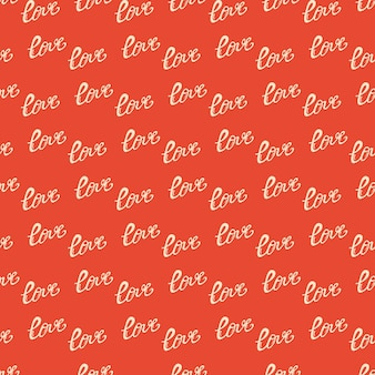 Nahtloses vektormuster auf valentinstagthema