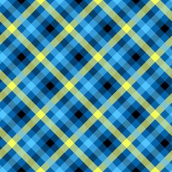 Nahtloses vektormuster der blauen farbe des schottenstoffs