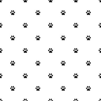Nahtloses vektormuster, katzenpfote, bearbeitbar kann für webseitenhintergründe verwendet werden, musterfüllungen