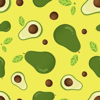 Nahtloses vektormuster mit avocado