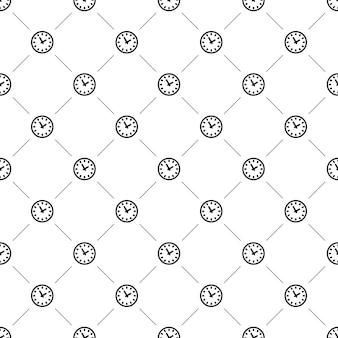 Nahtloses vektormuster, uhr, bearbeitbar kann für webseitenhintergründe verwendet werden, musterfüllungen