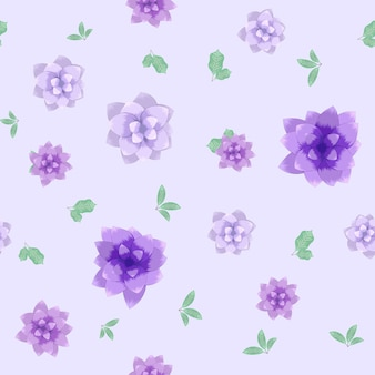 Nahtloses vektormuster von kleinen romantischen bunten frühlingsblumen