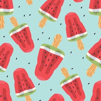 Nahtloses vektormuster von wassermelonenscheiben
