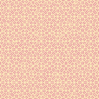 Nahtloses vintage rosa geometrie blumenmuster