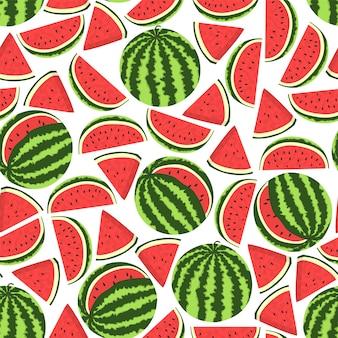 Nahtloses wassermelonenmuster