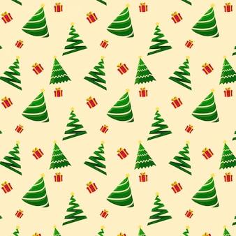 Nahtloses weihnachtsbaummuster