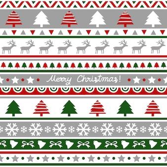 Nahtloses weihnachtsmuster für dekoration