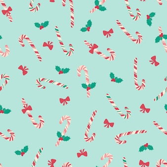 Nahtloses weihnachtsmuster mit mistel