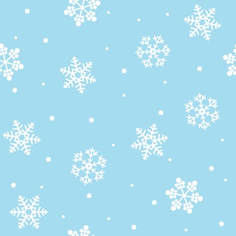 Nahtloses weihnachtsmuster mit schneeflocken