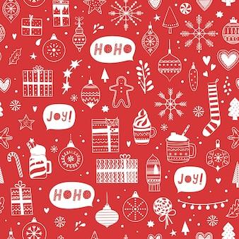 Nahtloses weihnachtsmuster weihnachten und winter