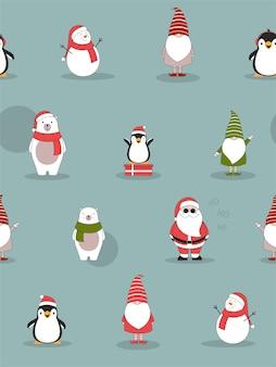 Nahtloses weihnachtsmuster