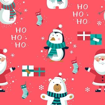 Nahtloses weihnachtsmuster.