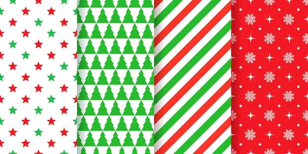 Nahtloses weihnachtsmusterset