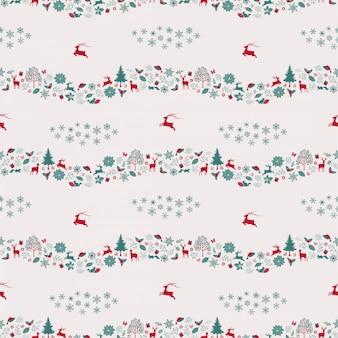 Nahtloses wiederholungsmuster der weihnachtsferien