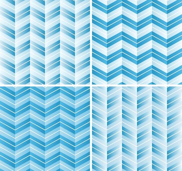 Nahtloses zickzack muster in der blauen steigungsfarbe. netter hintergrund für einklebebuch oder foto-collage.