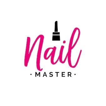 Nail master schriftzug mit polnisch