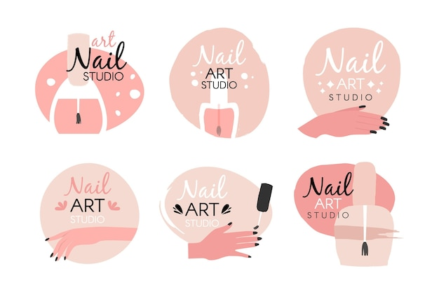 Nails art studio logo sammlung