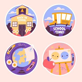 Naive back to school sticker-sammlung