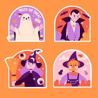 Naive halloween sticker sammlung