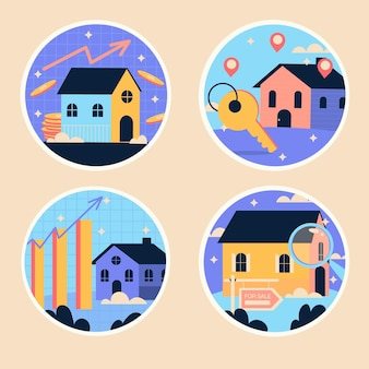 Naive immobilienaufkleber