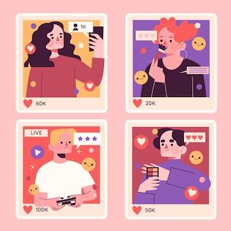 Naive influencer sticker sammlung stickers