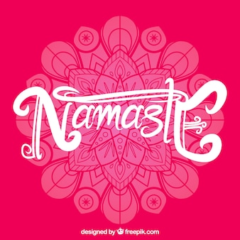 Namaste hintergrund von mandala