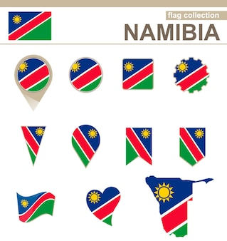 Namibia flag collection, 12 versionen