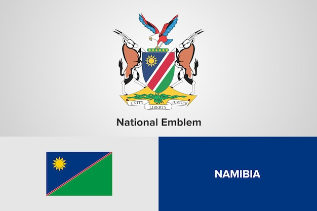 Namibia national emblem flag vorlage