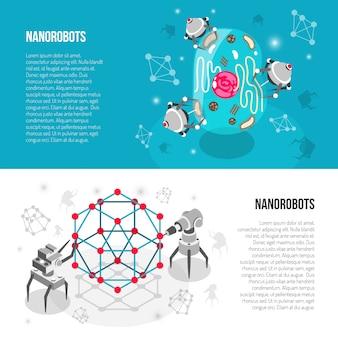Nano-roboter isometrische banner