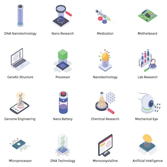 Nanotechnologie icons pack