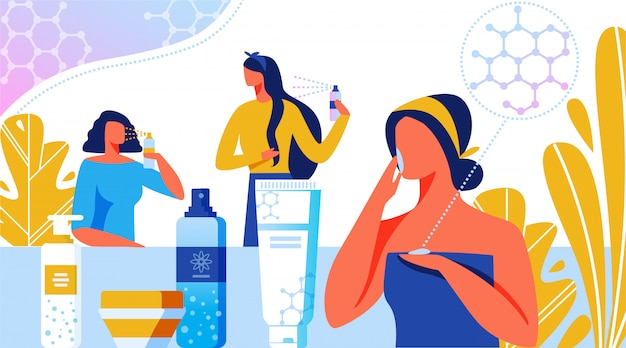 Nanotechnologie in der schönheitsindustrie, kosmetik.