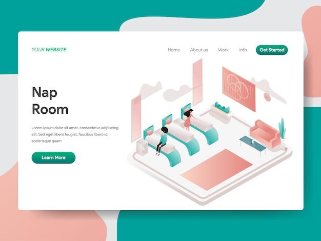 Nap room für web-seite