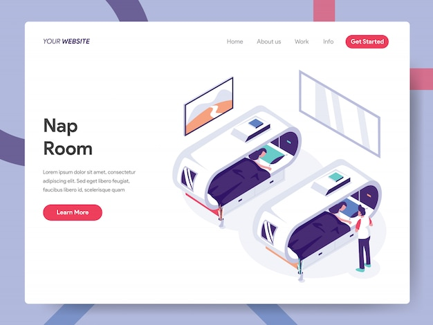 Nap room landing page
