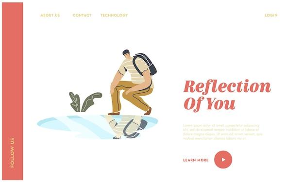 Narzissmus selbsteinschätzung und landing page template für persönliches aussehen.