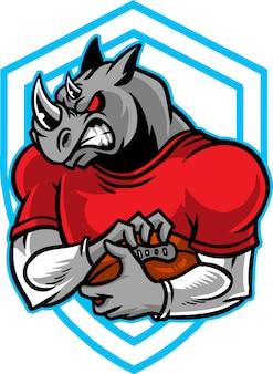 Nashorn-fußball