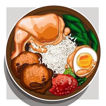 Nasi padang (indonesisches essen)