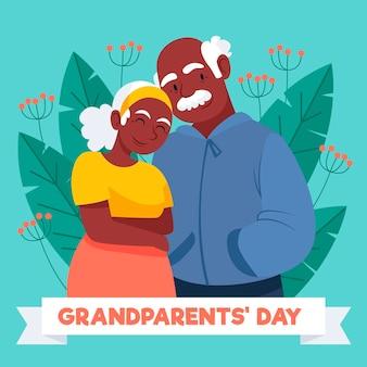 National großeltern tag zeichnung
