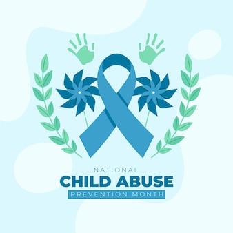 Nationale illustration des monats zur verhinderung von kindesmissbrauch