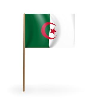 Nationale rot-weiße flagge des königreichs bahrain. waving banner auf einem fahnenmast. vektor-illustration. eps10