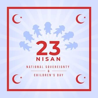 Nationale souveränität und illustration zum kindertag