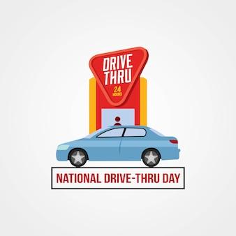 Nationaler drive-thru-tag