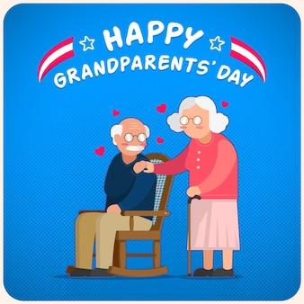 Nationaler großelterntag mit älterem ehepaar