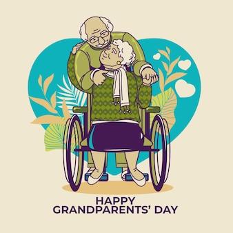 Nationaler großelterntag mit älteren menschen