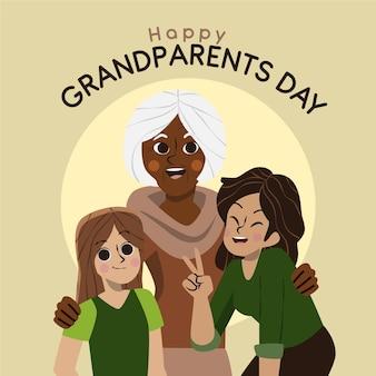 Nationaler großelterntag mit der familie