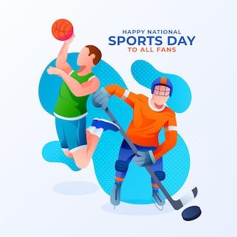 Nationaler sporttag mit farbverlauf