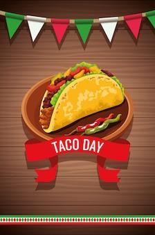 Nationaler taco-tagesfeierentwurf