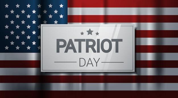Nationaler usa-patriot-tag vereinigte staaten feiertags-markierungsfahnen-fahne