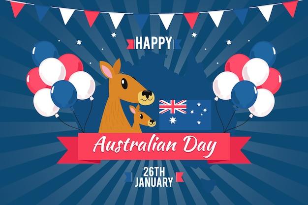 Nationales australien-tagesthema für ereignis