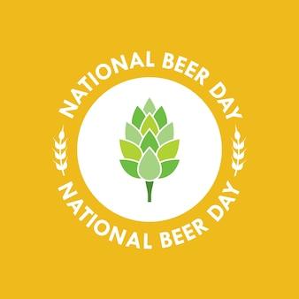 Nationales bier tag vektor-illustration in flachen stil