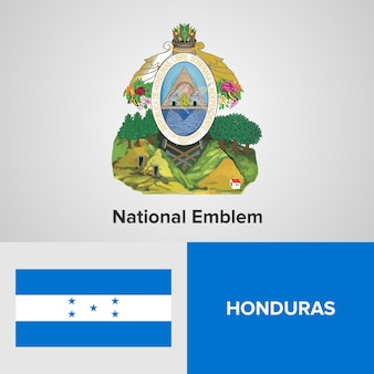 Nationales emblem und flagge honduras